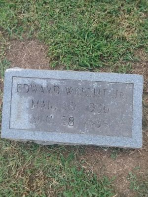 Edward's Headstone Photo