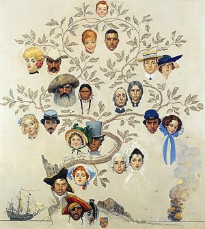 A Family Tree by Norman Rockwell