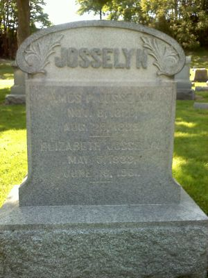 Grave of Amos P. and Elizabeth Josselyn