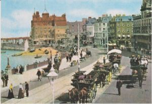 Postcard of Margate Harbour & parade circa 1906