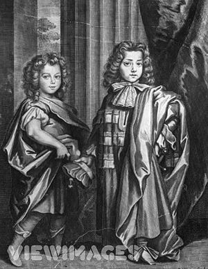 James Beauclerk with his brother Charles.