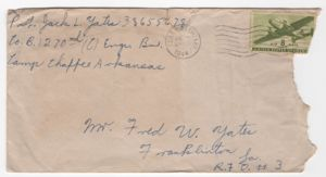1944-07-09 Letter from Jack Yates to Uncle Fred