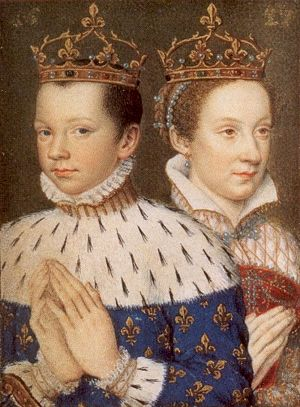Francis II and Mary, Queen of Scots, from a Book of Hours Portrait.