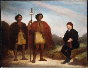 Thomas Kendall with Waikato (left) and Hongi Hika in London in 1820