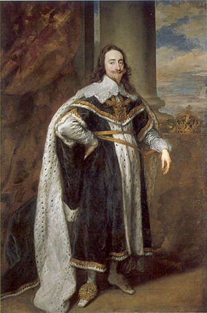 Charles I as king by Anthony VanDyck.