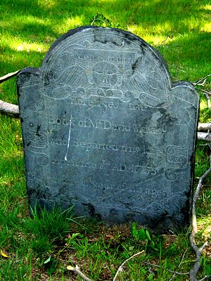 David Whittaker 1674-1755, Old Hillside Cemetery, Concord, MA
