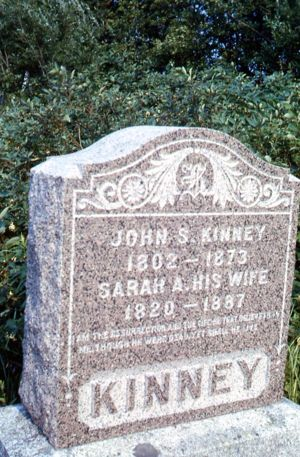 Sarah Crabtree and John S. Kinney Gravestone