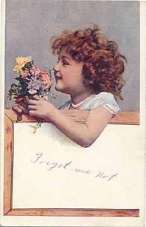 'Forget Me Not' Postcard