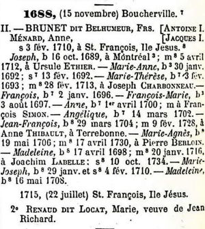 François Brunet II-Tanguay Collection Vol 1 page 94