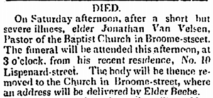Obituary from the National Advocate