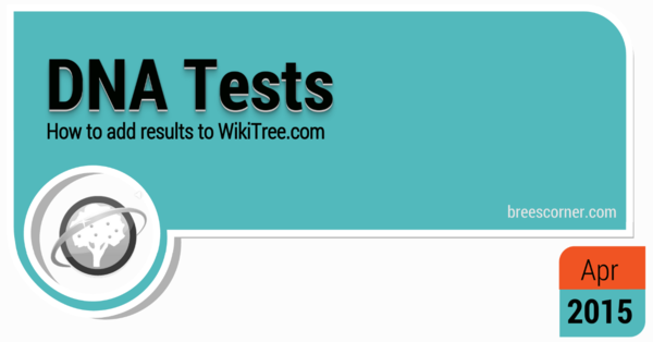 "Adding DNA Test Info to WikiTree ""watch video"""