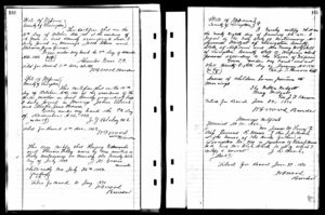 John Adam Ulrich and Martha Jane Brown marriage record
