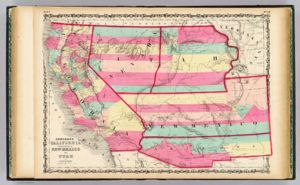 California, Territories of New Mexico And Utah