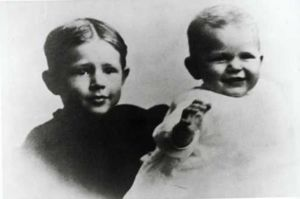 Ronald Reagan with his brother Neil