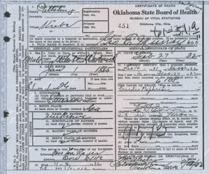 George Murray's Death Certificate