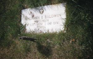 Benjamin Burton Baldwin grave marker