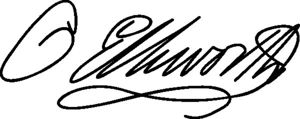 Oliver Ellsworth Signature, courtesy Wikipedia
