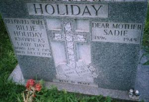 gravestone of Billie Holiday and her mother, Sadie Fagan