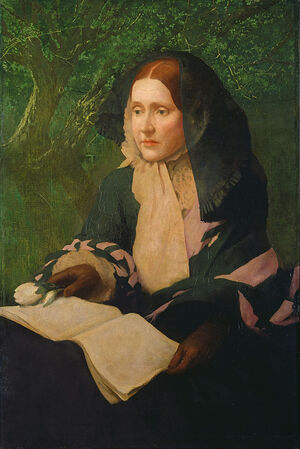 Portrait of Julia Ward Howe by John Elliott