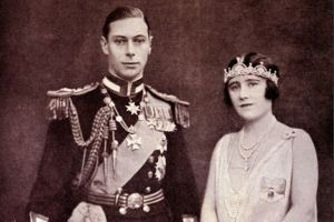 King George VI and Queen Elizabeth, the Queen Mother