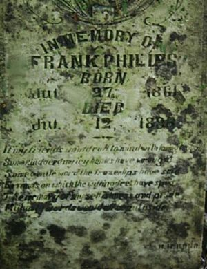 Frank Phillips Gravestone
