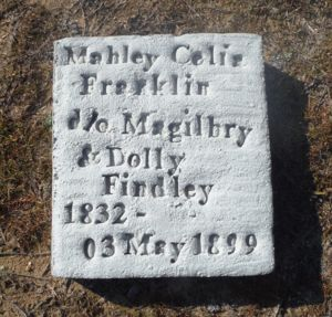 Celia (Findley) Franklin's Tombstone