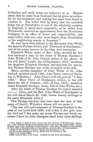 Thomas Gardner, Planter; page 5