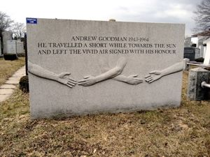 Memorial to Andrew Goodman