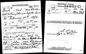 Registration Card for Frank McClellan