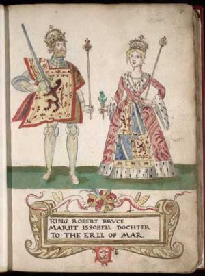 Marriage: Robert the Bruce and Isabella of Mar