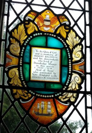 Stained Glass donated by Baldwins to St Michael and All Angel's Church