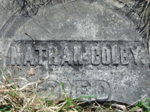 Nathan Colby Grave Marker