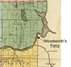 Cayuga County 1829 - Ferry Location