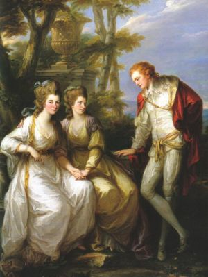 Portrait of Lady Georgiana, Lady Henrietta Frances and George John Spencer, Viscount Althorp.