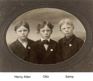Henry Allen, Otto Olin and David Sanford Walker - brothers.