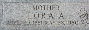 Lora Alberta Crump Camp Tombstone