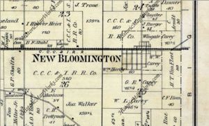 Carey property in New Bloomington , 1878.