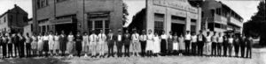 Zatarain's employees line up in front of the original New Orleans location of the Zatarain's factory at 925 Valmont St. in 1922.
