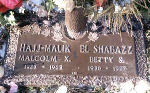 Betty Sanders Shabazz grave marker
