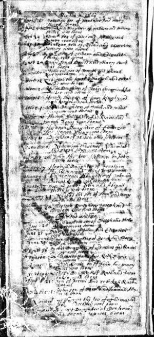 Hannah Wright - 1669 Northampton Birth Record