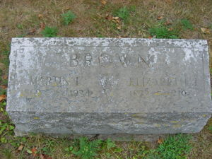 Martin Luther Brown gravestone