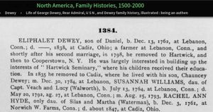 Dewey Genealogy part1