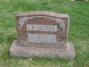 Grave for David, Edith, and Jesse Crabtree