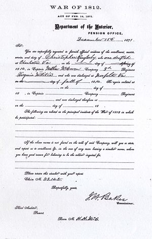 Christopher Ringlesby War of 1812 Service Records Image 5