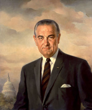 Official White House Portait of  President Lyndon B Johnson