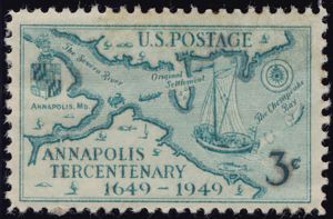 Annapolis Tercentenary 3 Cents US Postage