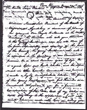 Fayette H. Norvell - Application to West Point 1825 Letter From Rep. David S. Garland Page 2
