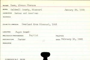 Alonzo Pierson Hawn 1838 1892 Wikitree Free Family Tree