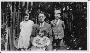 John Percival Brown with Joyce, Roy and Donald