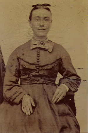 Mrs. Elizabeth Geisenhener, soon after immigrating to the United States.